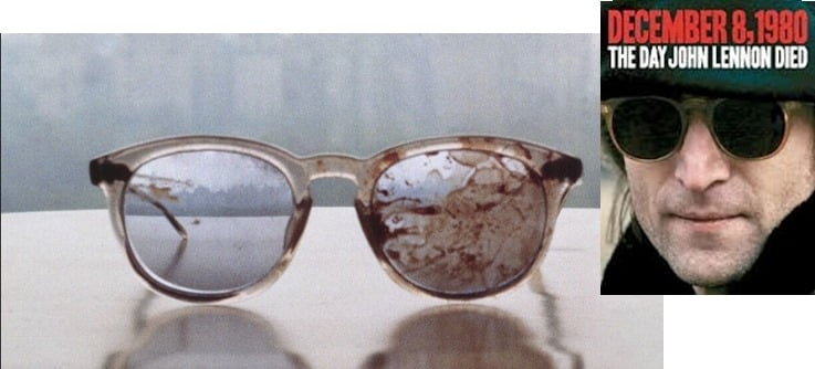 John Lennon Blood Stained Glasses