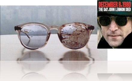 John Lennon Blood stained  glasses