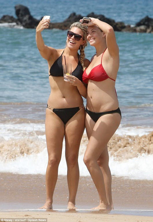 Miss America Mallory Hagan and Miss Hawaii Skyler Kamaka Bikini Weight Gain Photos