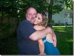 Brittany Ozarowski with her dad