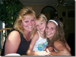Brittany Ozarowski with sister and mother