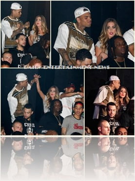 Chris Brown Keisha Kimball Playhouse  nightclub photo