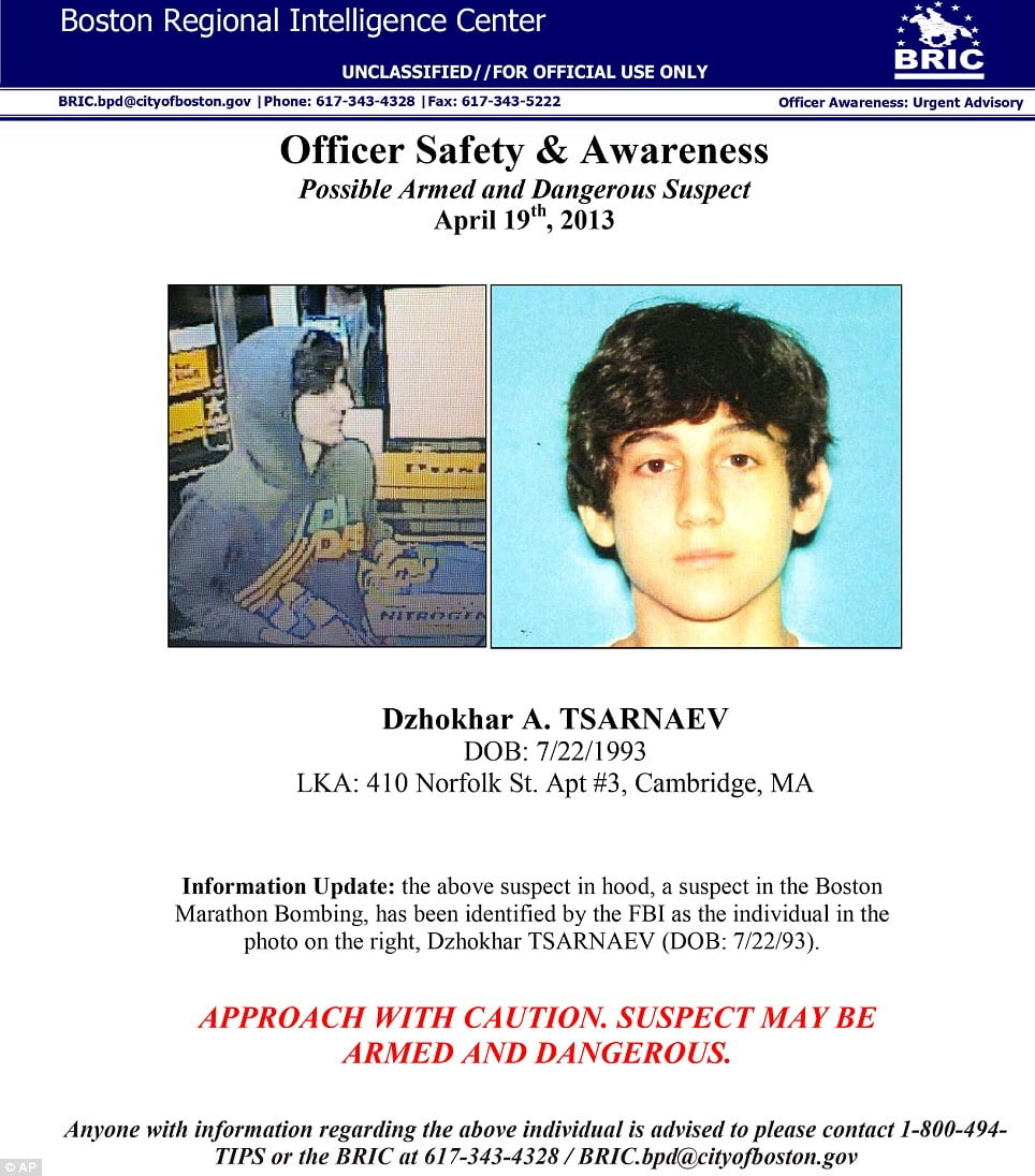 At Least Seven Students Injured Two Suspects In Custody: PHOTOS!!!! Dzhokhar A. Tsarnaev-Boston Bomber #2 Arrested