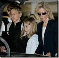 Diane Thatcher with her children Michael and Amanda