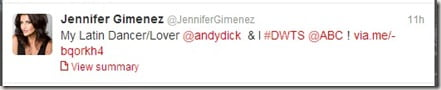 Jennifer Gimenez tweet