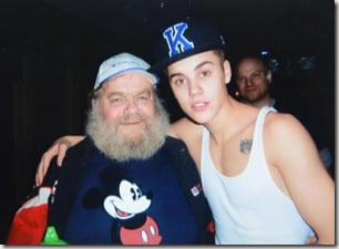 Justin Bieber with his grandfather