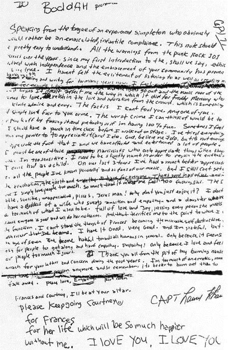 Kurt Cobain Death Autopsy Photos Kurt cobain suicide note