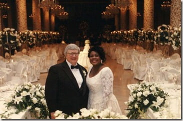 Roger and Chaz Ebert wedding