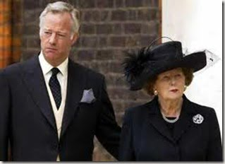 Sir Mark Thatcher with mother Margaret