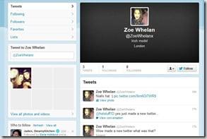 Zoe Whelan fake twitter
