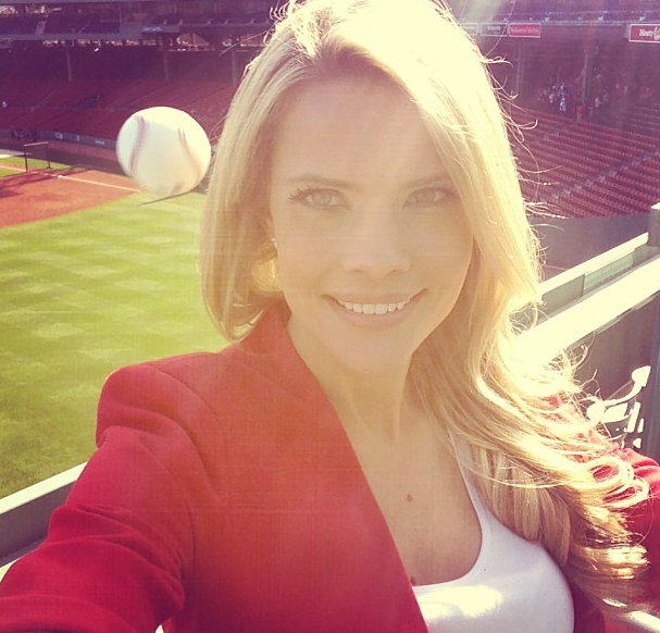 Kelly Nash- Tampa Bay Rays reporter Nearly hit by a baseball