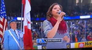Alexis Normand- Singer who faces shame to changing the lyrics of The Star-Spangled Banner!!!