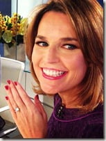 Savannah Guthrie engagement ring