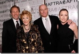 LOS ANGELES, CA - MARCH 09:  Actors (L-R) Collin Bernsen, Jeanne Cooper, Corbin Bernsen and Caren Bernsen arrive at the 2009 AFTRA Media and Entertainment Excellence Awards at the Biltmore Hotel on March 9, 2009 in Los Angeles, California.  (Photo by Michael Buckner/Getty Images)