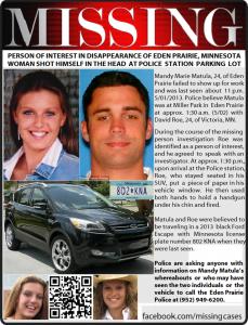David Marshall Roe- Eden Prairie missing girl Mandy Matula's Boyfriend