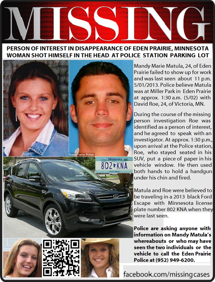 David Marshall Roe- Eden Prairie missing girl Mandy Matula's Boyfriend