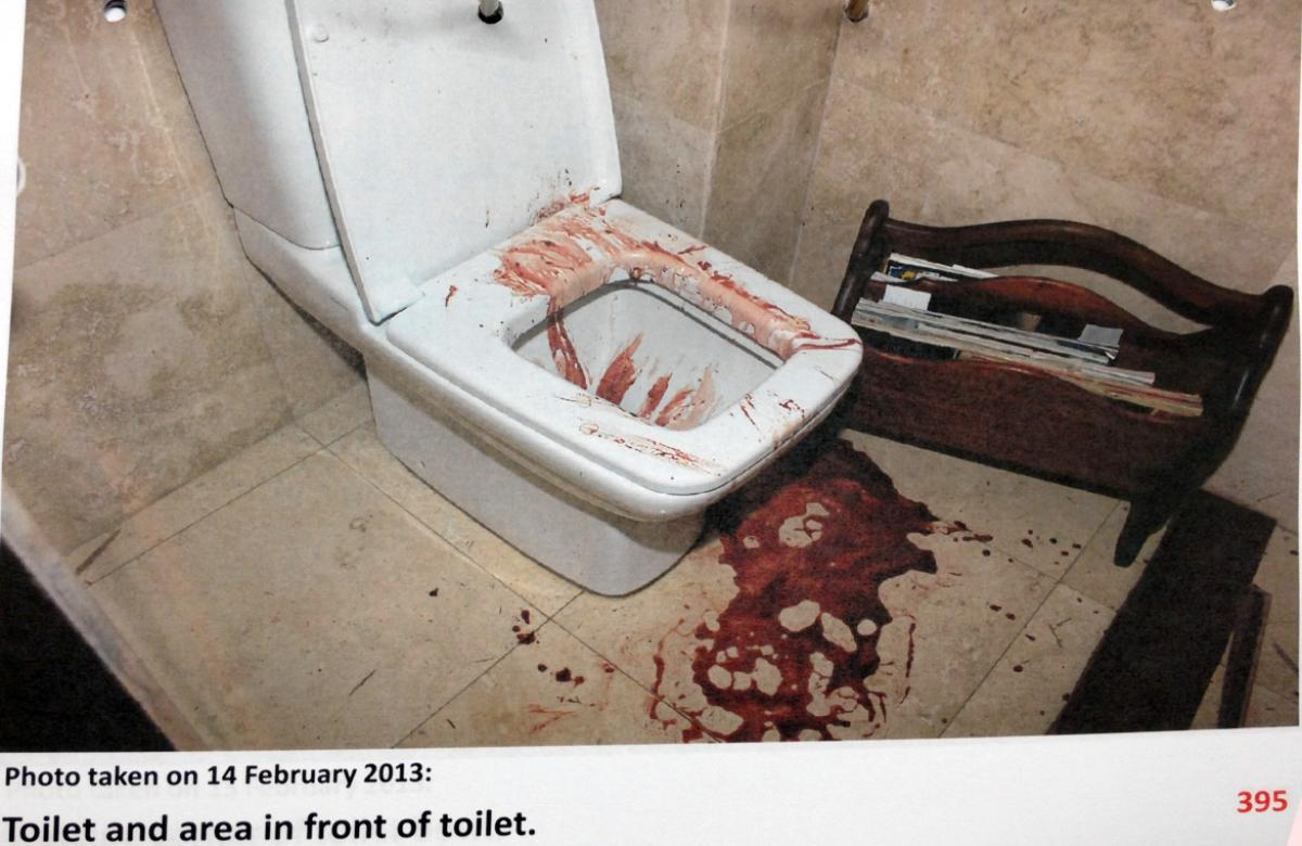 Photos of the murder scene where Oscar Pistorius shot and killed his ...