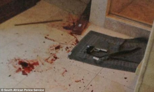Reeva Steenk  Pistorius Free Pictures Blood Spattered Bathroom Wreck Case additionally Edmund Kemper Crime Scene Photos additionally Oscar Pistorius Crime Scene Photos Released besides 403359 Reeva Steenk  Dead Body Crime Scene Photos Warning Graphic together with Farmmurder Update Court Case To Start. on oscar pistorius bloody crime scene