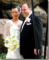 James Gandolfini and Deborah Lin's wedding