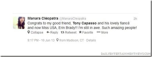 Tony Capasso Miss Usa 2013 erin Brady boyfriend pics