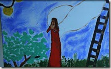 picture painted by Reeva Steenkamp, as a teenager, depicting an angel