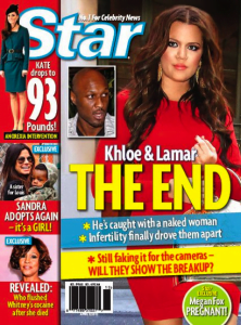 Lamar Odom Jennifer Richardson star Magazine cheating scandal
