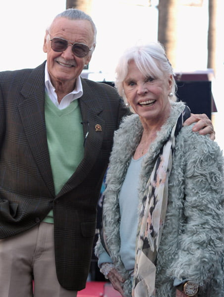Stan Lee with Wife Joan B. Lee