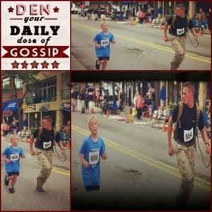 Lance Cpl. Myles Kerr – Marine running in The Jeff Drench Memorial 5K with Brandon Fuchs