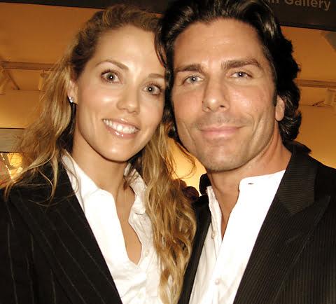 Elizabeth Berkley with cool, Husband Greg Lauren