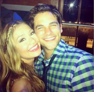 Who is PLL Actor and DWTS Contestant Brant Daugherty's girlfriend? Is it Elle McLemore?