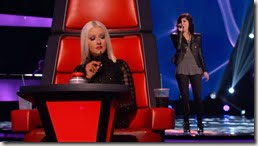 Briana Cuoco the voice audition pic