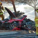 Paul Walker car crash photo