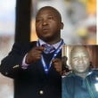 Thamsanqa Jantjies nelson Mandela sign Language interpreter photos