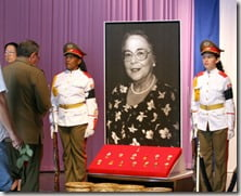 Vilma Espin Raul Castro wife-picture