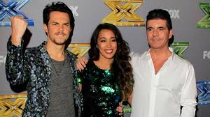 alex and sierra xfactor winners and simon cowell 2 pic