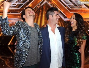 alex and sierra xfactor winners and simon cowell pic