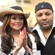 Latoya Jackson and manager Jeffre Phillips