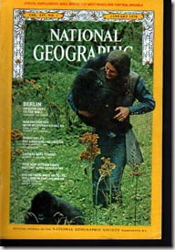 Dian Fossey National Geographic january 1970