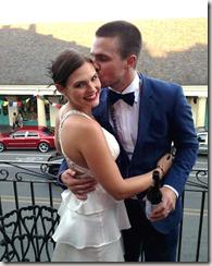 Stephen Amell wife Casandra Jean Whitehead amell wedding pic
