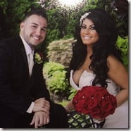 Tracy DiMarco Corey Epstein wedding pic'