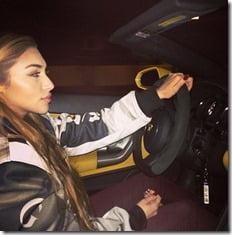 chantel Jeffries JustinBieber Yellow Lamborghini Miami pic