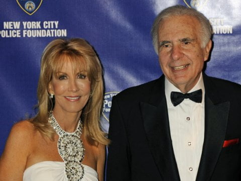 Carl Icahn with beautiful, Wife Gail Golden