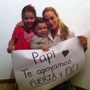 Leopoldo Lopez wife Lilian Tintori-photo