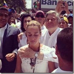 Leopoldo Lopez wife Lilian Tintori pic
