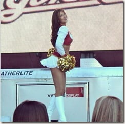Morgan McLeod sf 49ers cheerleader pic