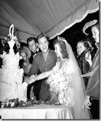 Shirley Temple John Agar wedding pic