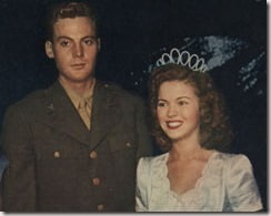 Shirley Temple John Agar wedding picture