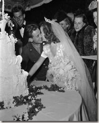 Shirley Temple John Agar wedding pictures