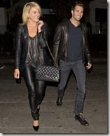 James Maslow is seen with Australian Dancer Peta Murgatroyd at SUR Restaurant in West Hollywood, CA