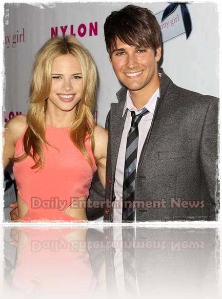 James Maslow  girlfriend Halston Sage